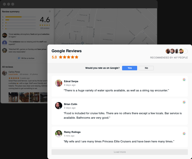 Google Bewertungen auf Webseite einbinden