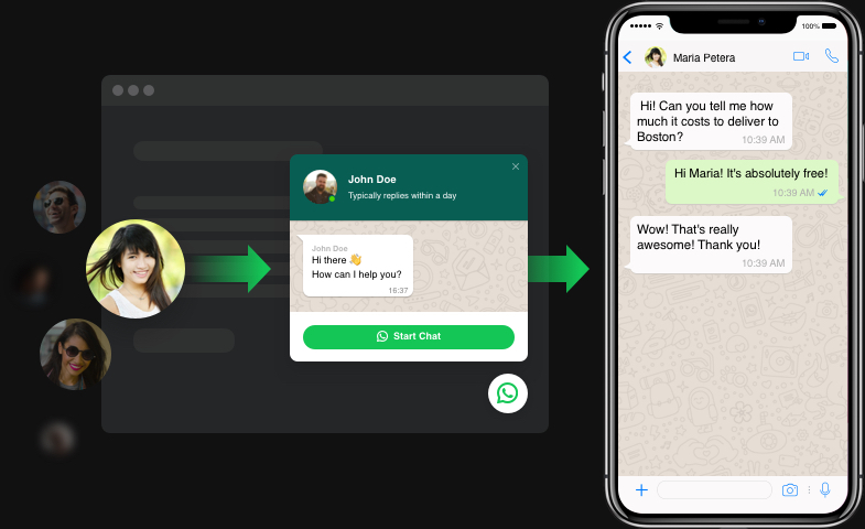 WhatsApp Messenger auf der Website