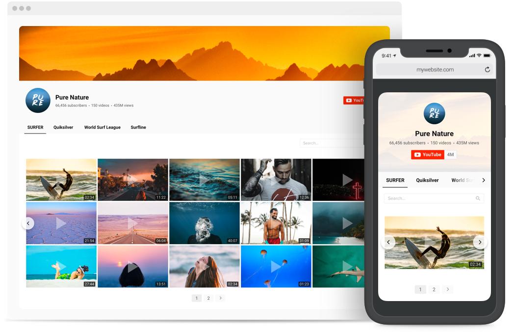 Ordnen Sie Ihre YouTube Videos in eine Galerie
