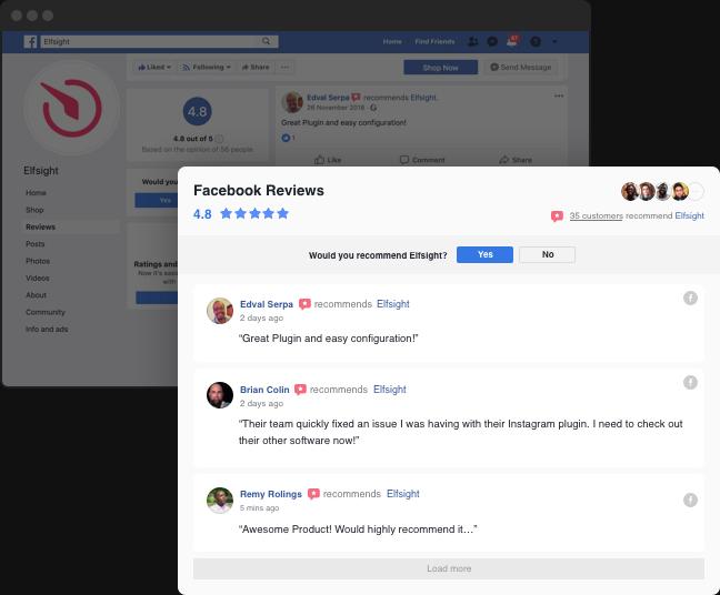 Ihre besten Facebook Bewertungen anzeigen