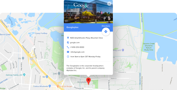 Google Maps Widget </br> für Website