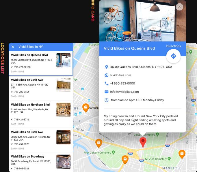 Bleiben Sie mit detaillierten Kontaktinformationen leicht zu finden