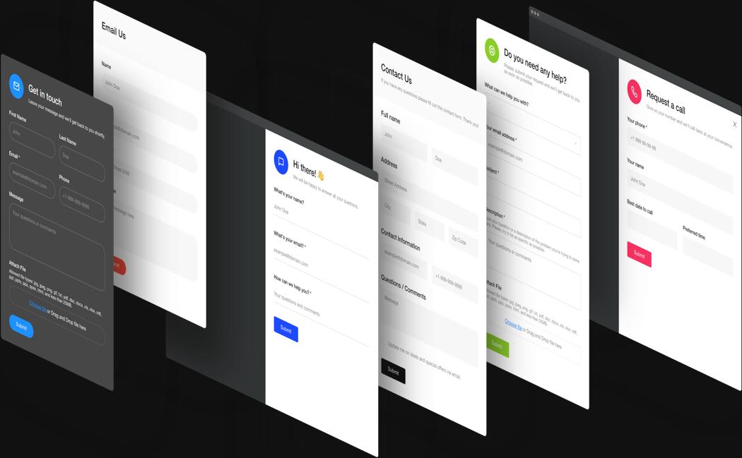Ändern Sie das Design Ihres Kontaktformulars mit wenigen Klicks