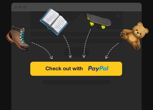 Die Zahlungsbuttons für die Einzelzahlung