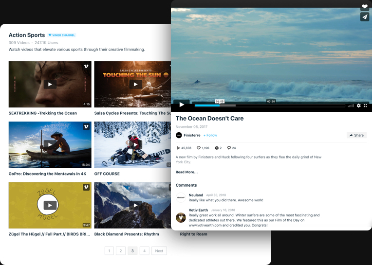 Die Galerie Ihrer besten Vimeo Videos