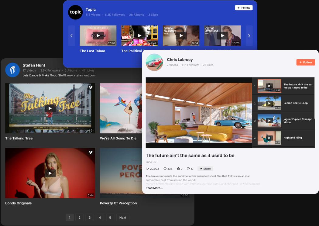 Vimeo Website Video Gallery mit den besten Designfunktionen