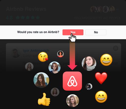 Call-to-Action-Button um weitere neue Reviews zu sammeln