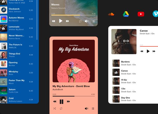 Alle Arten von Audio-Dateien