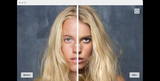 der Before and After Slider </br> für Ihre Website
