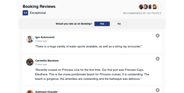Booking Reviews Widget