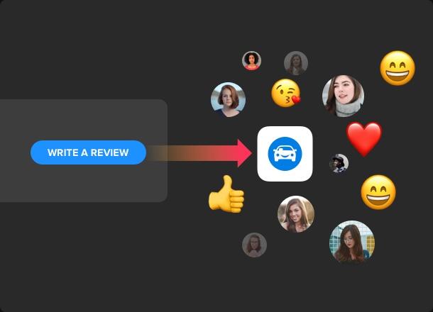 CTA-Buttons um weitere neue Rezensionen zu erhalten