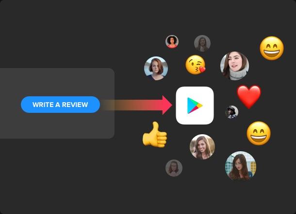 Call-to-Action-Buttons um weitere neue Reviews zu erhalten