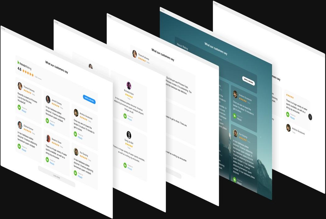 Moderne Design-Optionen mit einem Klick
