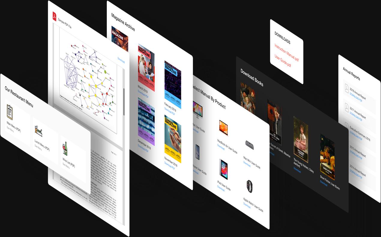 Erstellen Sie ein PDF Datei als Widget in Ihrem eigenen Stil
