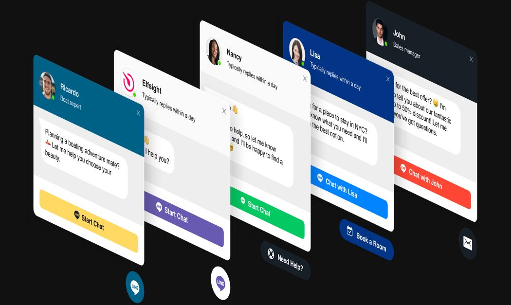 Großartiges Layout, um den besten Line Chat für Ihre Website zu erstellen