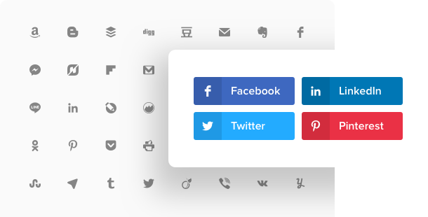 Social Share Buttons Widget </br> für Ihre Website