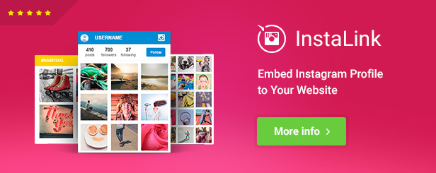 InstaLink - Instagram Widget for WordPress