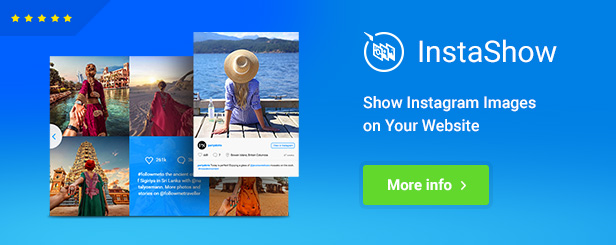 InstaShow - Instagram Feed jQuery Plugin