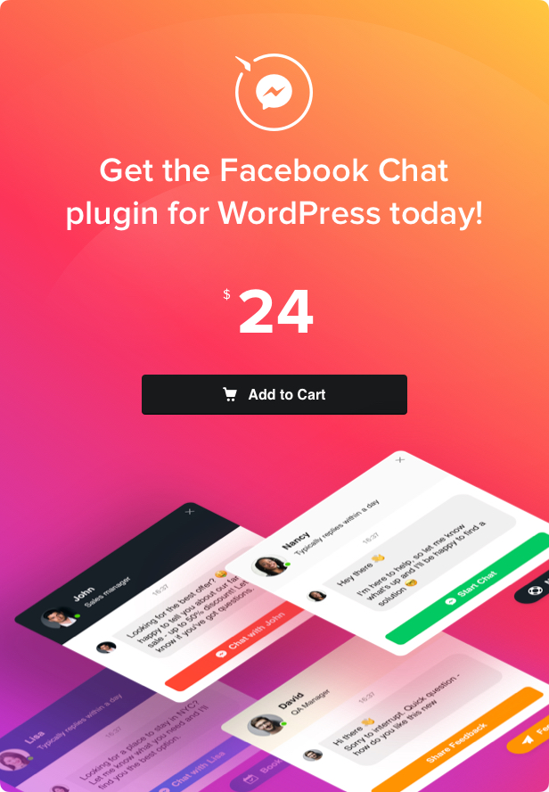 Facebook Chat - WordPress Facebook Messenger - 4
