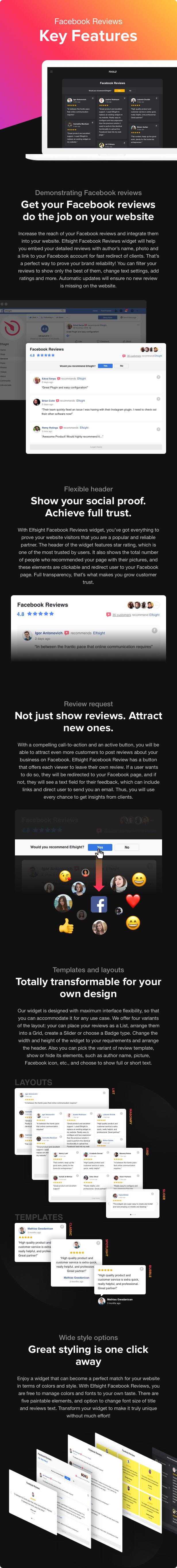 Facebook Reviews - WordPress Facebook Reviews plugin - 1