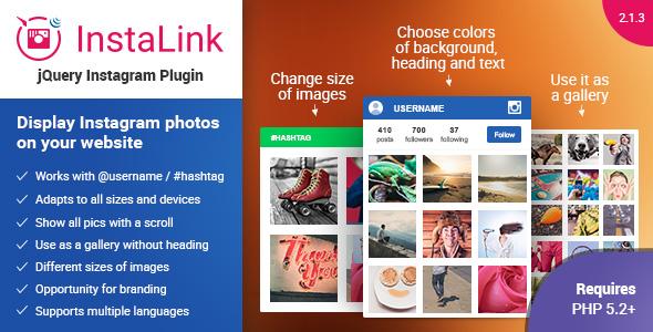 jQuery Instagram Plugin - InstaLink