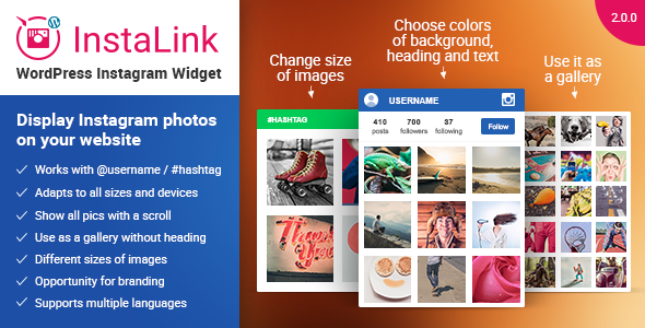 Instagram Widget for WordPress - InstaLink