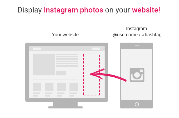 Display Instagram photos on your website