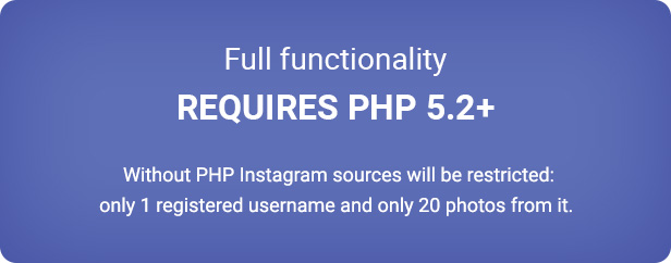 Requires PHP 5.2+