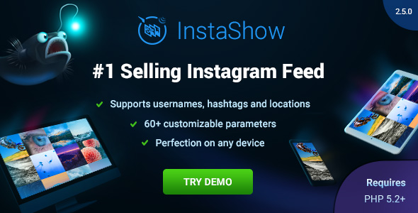 Instagram Feed jQuery Plugin - InstaShow