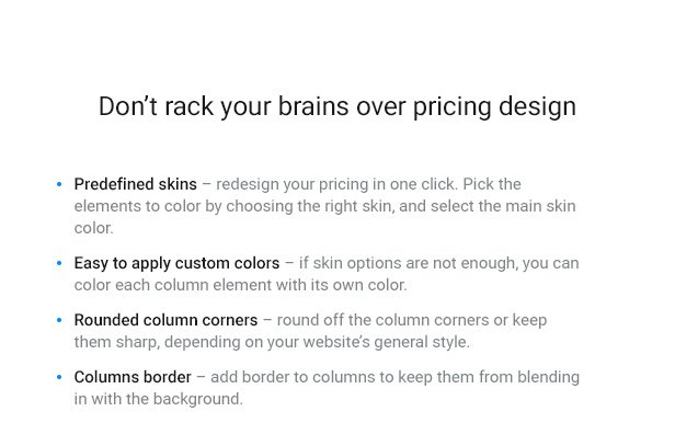 WordPress Pricing Table Plugin 5