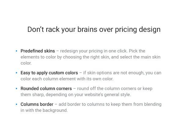 WordPress Pricing Table Plugin - 5