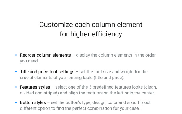 WordPress Pricing Table Plugin 7