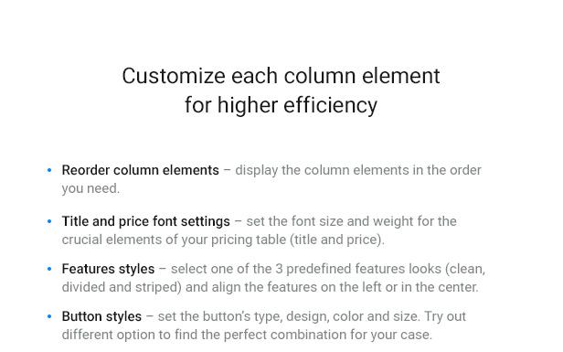 WordPress Pricing Table Plugin - 7
