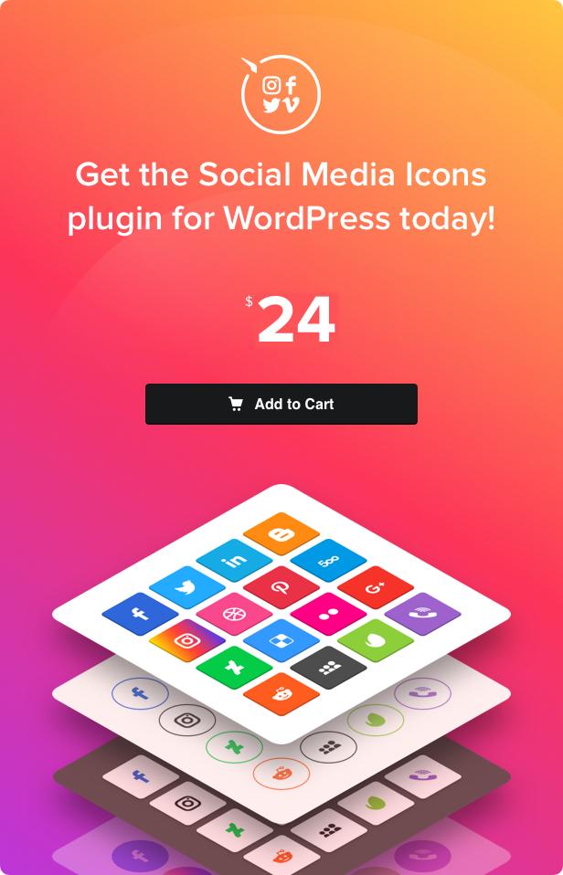 Social Media Icons WordPress – Social Icons Plugin - 4