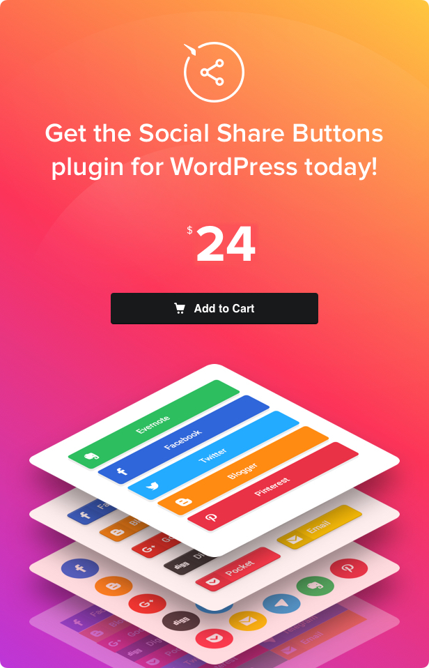 Social Share Buttons for WordPress - 4