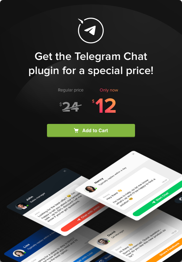 Elfsight Telegram Chat - 5