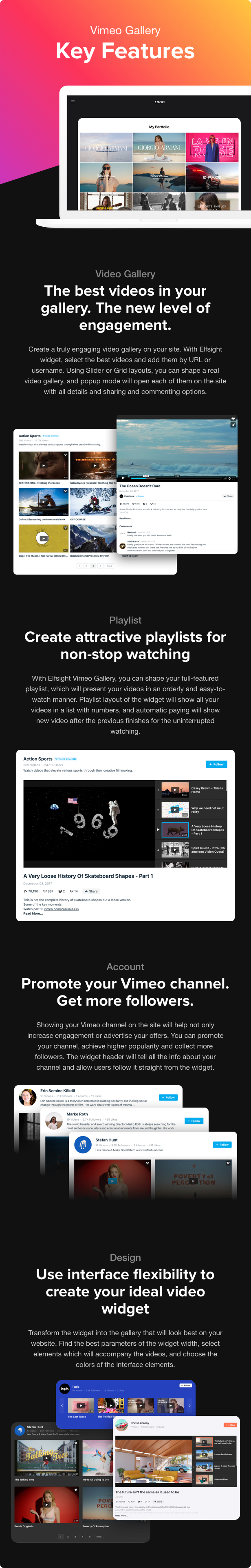 Vimeo Gallery - WordPress Vimeo plugin - 2