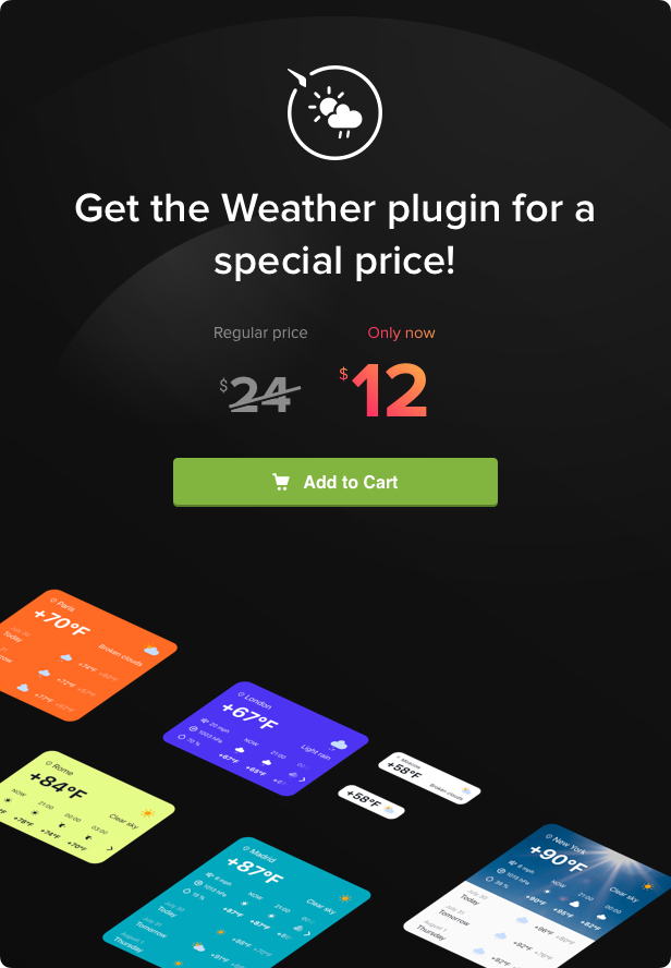 Weather Forecast - WordPress Weather Plugin - 5