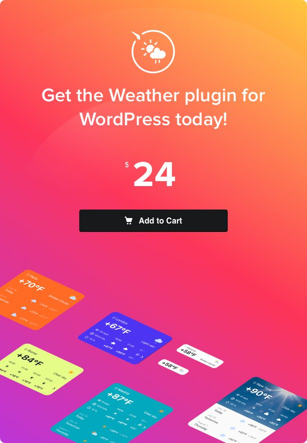 Weather Forecast - WordPress Weather Plugin - 4