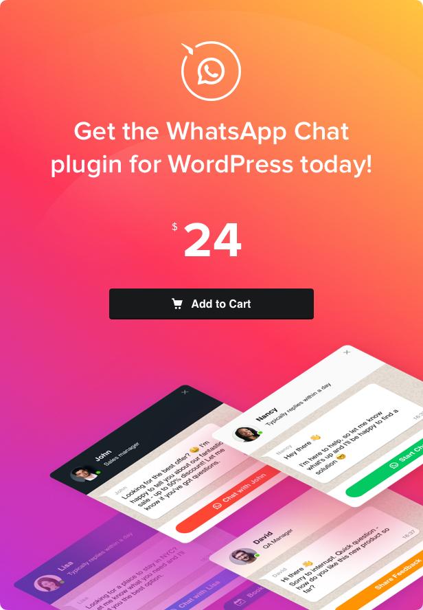 WhatsApp Chat - WordPress WhatsApp Chat plugin - 4