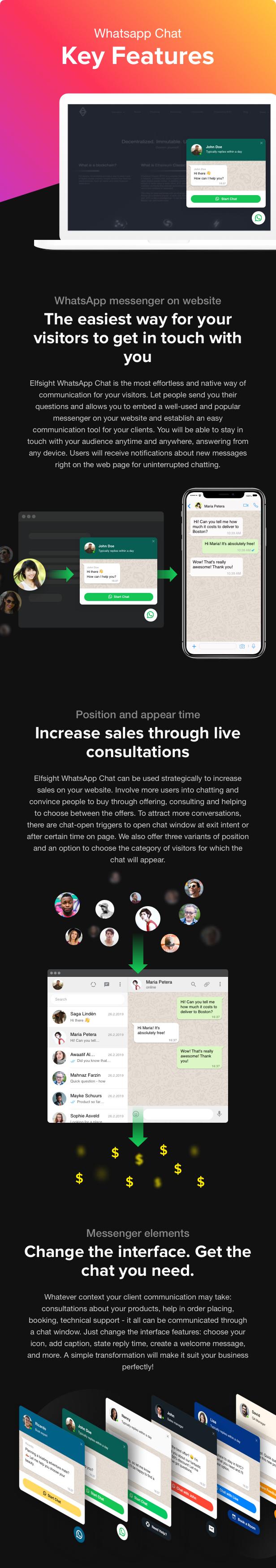 WhatsApp Chat - WordPress WhatsApp Chat plugin - 1