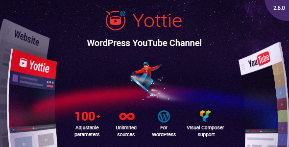 YouTube Channel WordPress Plugin - Yottie
