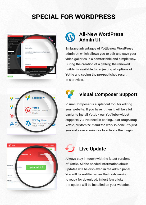 Yottie YouTube Widget for WordPress