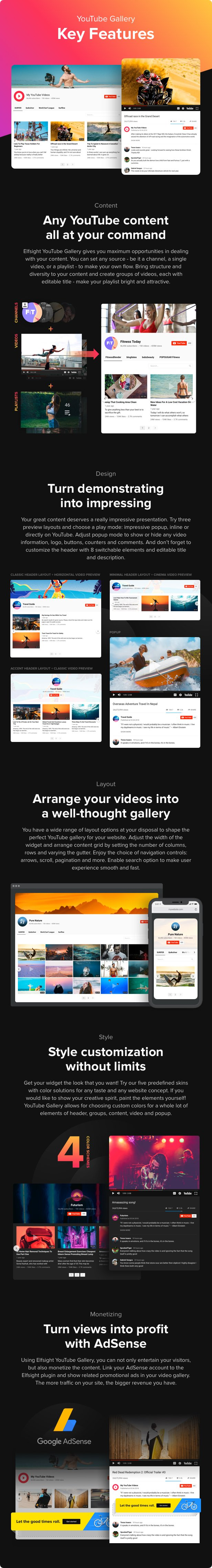 YouTube Plugin – WordPress YouTube Gallery