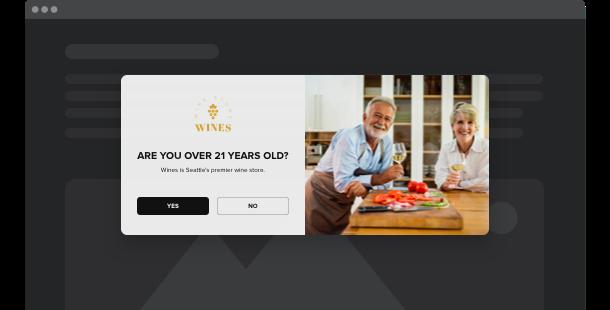 Widget de Verificación de edad para su sitio web