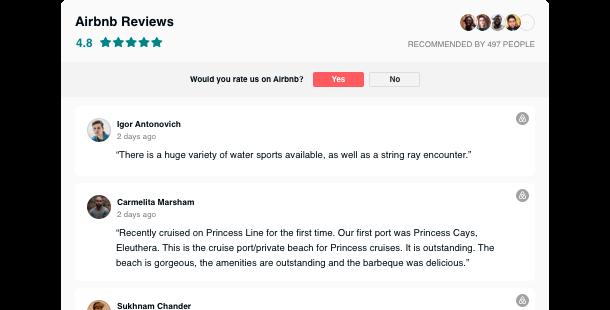 Widget Reseñas de Airbnb para su sitio web