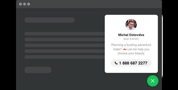 Botón Llame Ahora para su sitio web