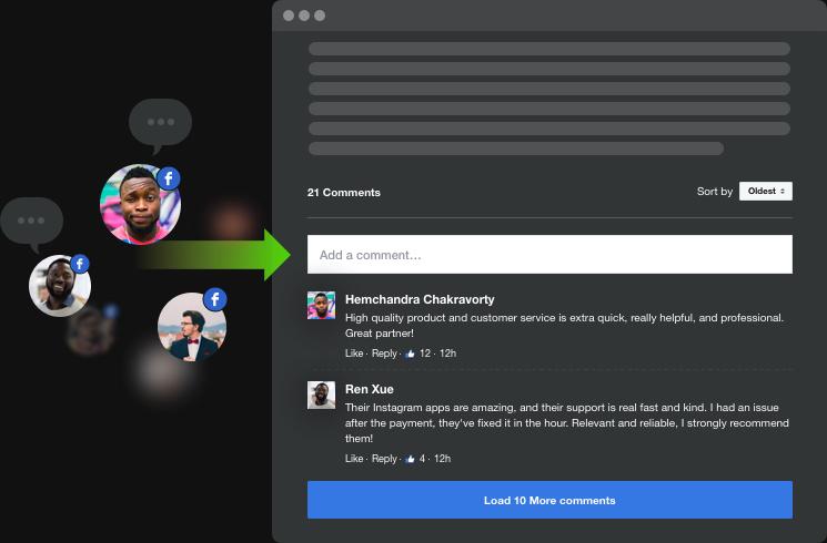 Aumento de la participación en el sitio web con comentarios instantáneos