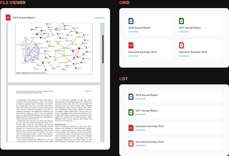 Visualización y descarga de documentos con facilidad