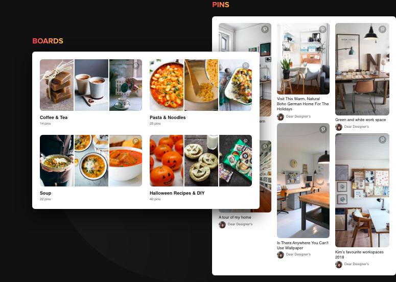 Selecciona el mejor contenido de Pinterest. Haz que los espectadores se inspiren.